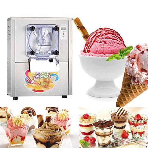 Ice Cream Machine, Pevor 1400W Ice Cream Machine Commercial Hard Serve Hard Ice Cream Machine Maker 5.28Gal/H Stainless Steel Ice Cream Maker LCD Display by Pevr (Image #1)