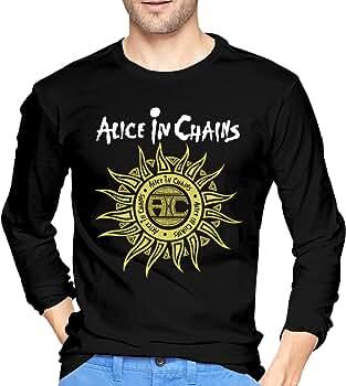 Camiseta de Manga Larga para Hombre, diseño de Alicia en Cadenas, Color Negro Negro Negro (L: Amazon.es: Ropa y accesorios