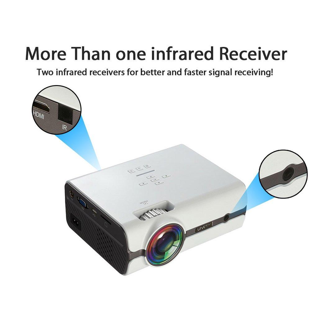 TY-NATN Proyector Proyector, proyectores de Video, portátil ...