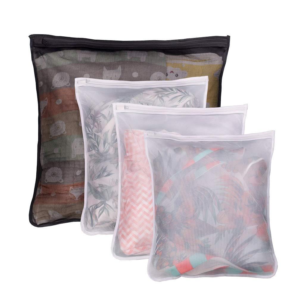 Lazyaunti Mesh Laundry Bag Nylon Lingerie Bag Delicates Wash Bag Sock Bag Laundry Wash Bag Washing Machine (Black, Nylon)