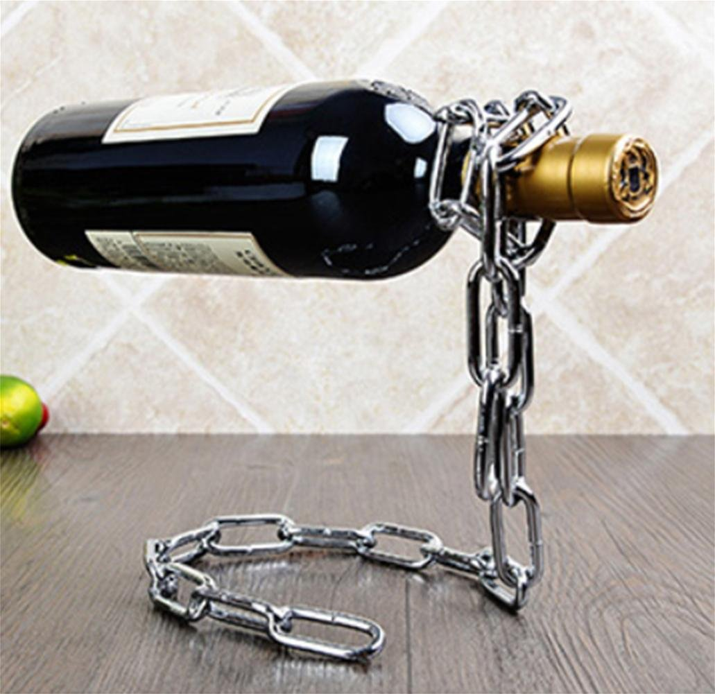 Z&HAO Iron Wine Bottle Holder Simple Creative Wine Rack, Stainless Steel Color Z&HAO kitchen