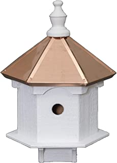 product image for Saving Shepherd Double Bluebird House - 2 Room Copper Top Birdhouse Amish Handcrafted in Lancaster Pennsylvania USA