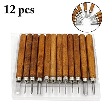 Outgeek Wood Carving Tool Set Assorted Types Wood Carving Tool For