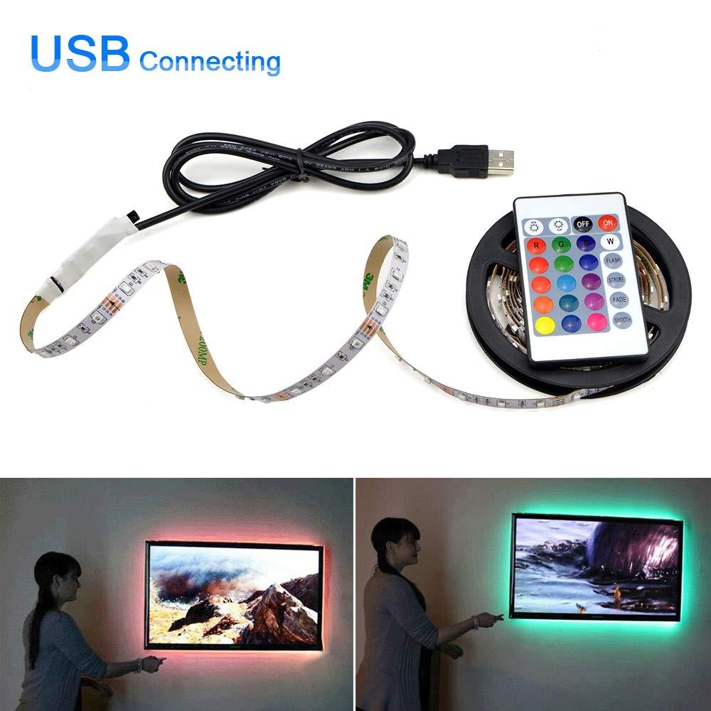 Flexible USB LED Light RGB LED Under Cabinet Kitchen Light for HDTV Desk Decoration Tape 1m-5m Backlight Closet Kitchen Lights