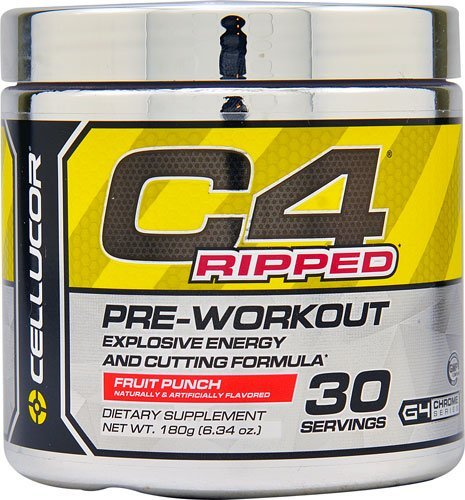 Cellucor Cellucor C4® Ripped Pre-Workout Fruit Punch -180g (6.34 oz.)- 30 Servings
