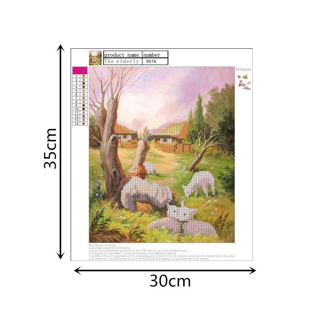 Xmansky DIY 5d Diamond pintura por número Kit,5D diamond ...