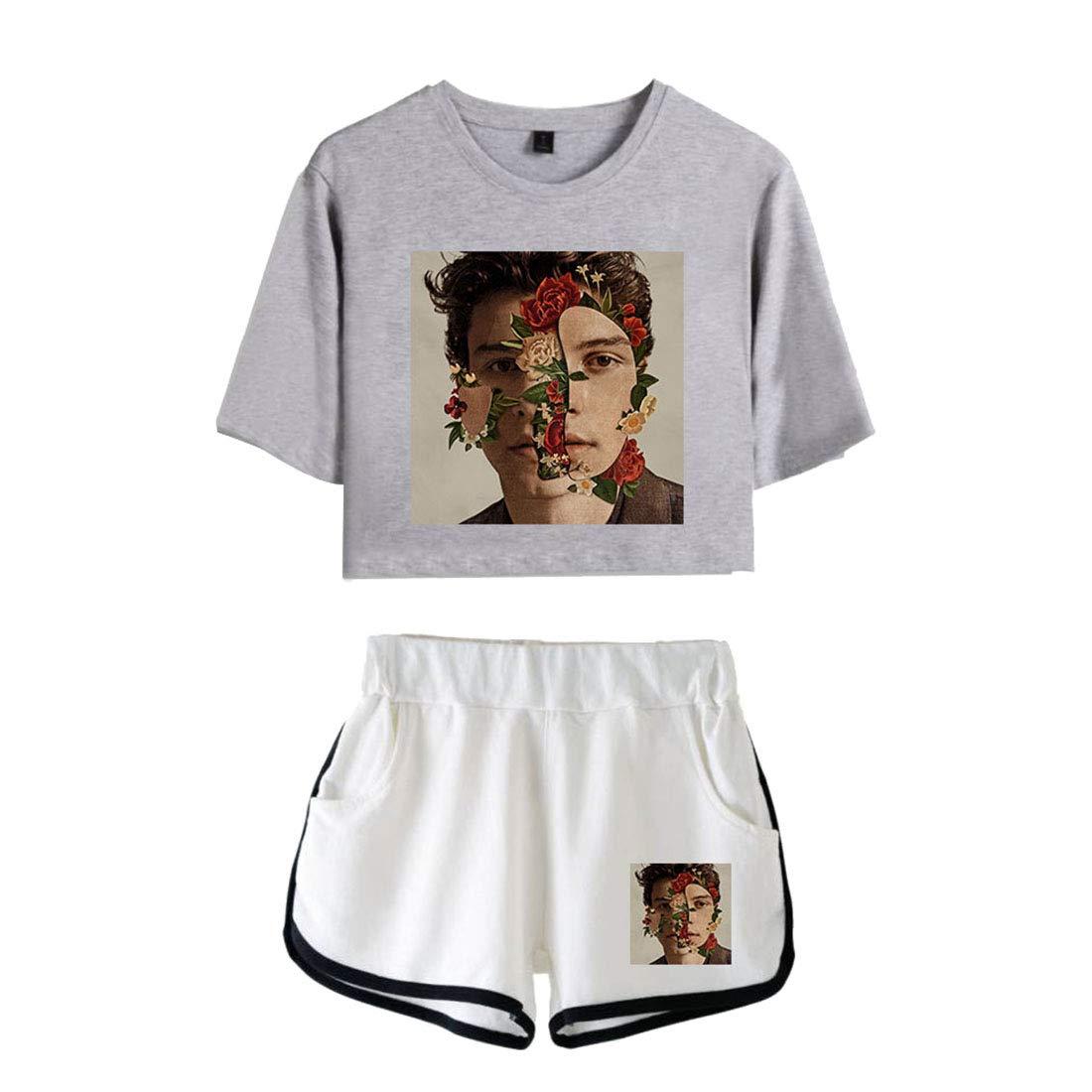 f8687bc0135d5 CTOOO T-Shirts Shorts Shawn Mendes Vêtements Commémoratifs Femme Ado Casual  Ete XS-XXL: Amazon.fr: Vêtements et accessoires