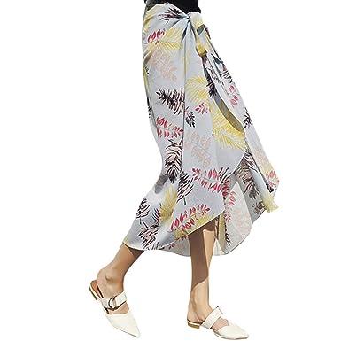 Faldas Mujer Verano Falda de Abrigo de una Pieza Falda de Playa ...