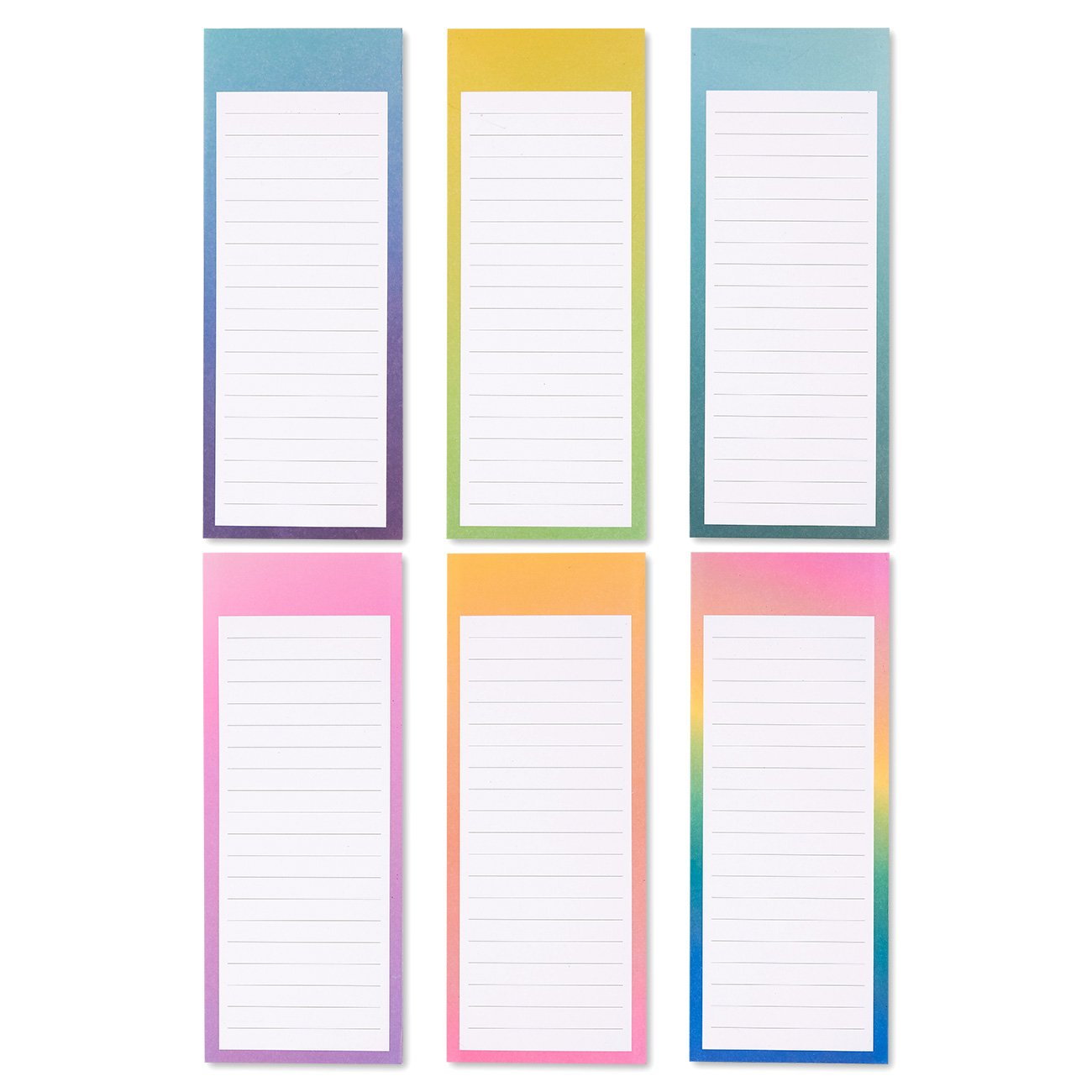 To-do-List Notepad - 12-Pack Magnetic Notepads, Fridge Grocery List Magnet Memo Pad for Shopping, To Do List, Reminders, House Chores, 6 Different Watercolor Designs, 60 Sheets Per Pad, 3.5 x 9 Inches