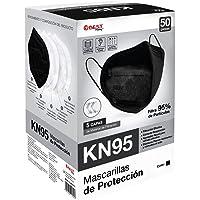Best Trading Cubrebocas KN95 Negro, Tapabocas de 5 Capas contra Partículas, Mascarilla Desechable (50 Piezas)