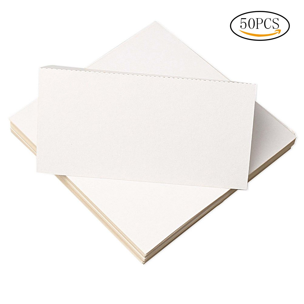 wotu 50 pcs White Table Cards, Blank Place Cards Table Name Tent Cards Wedding Party Decoration Meeting Favor