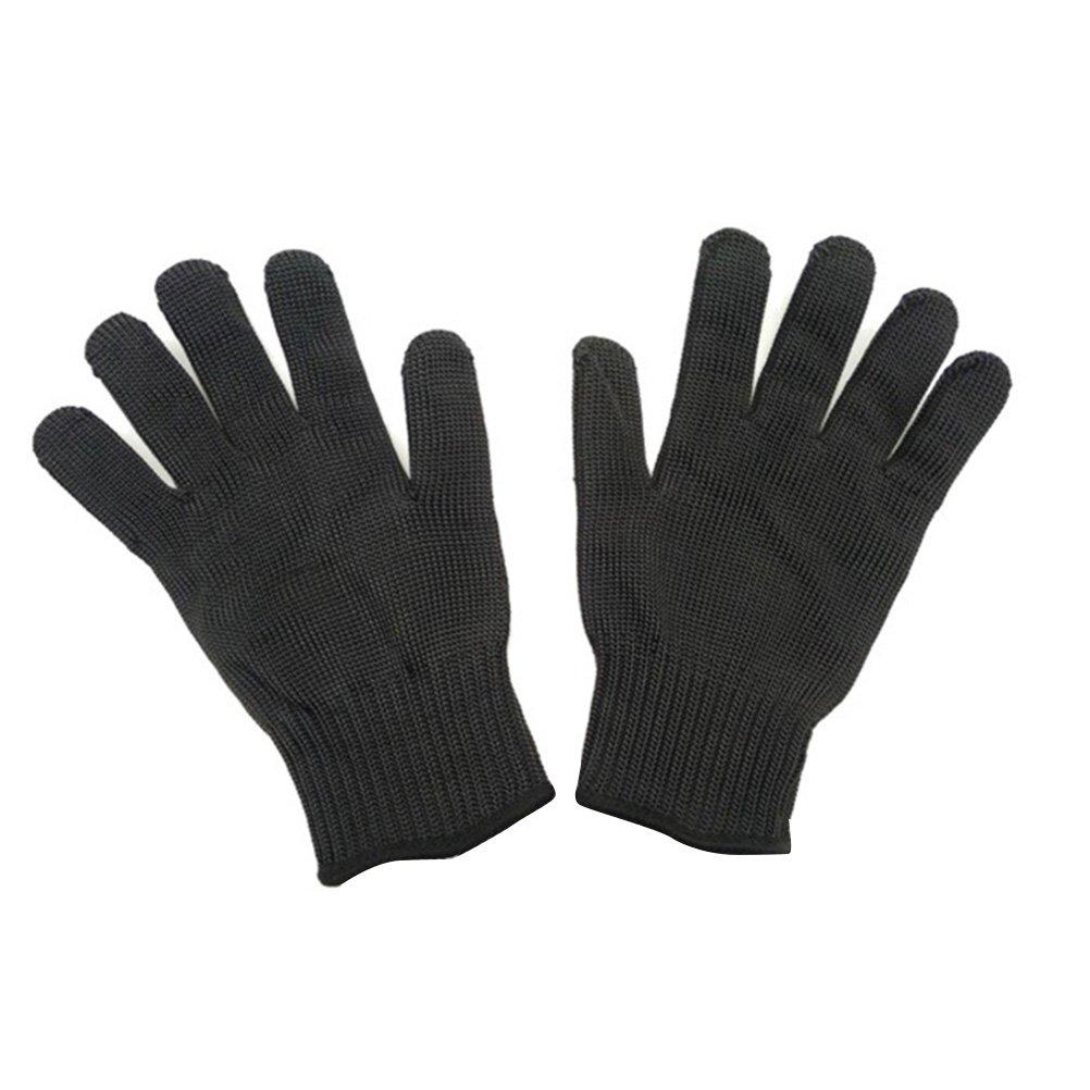 Negro Tinksky Guantes resistentes al corte Protecci/ón Nivel 5 Guantes de seguridad para protecci/ón de las manos Guante de cocina para cortar y cortar 1 par