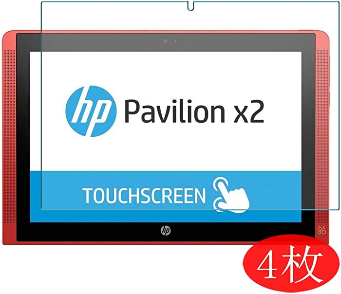 "【4 Pack】 Synvy Screen Protector for HP Pavilion x2 10"" TPU Flexible HD Clear Case-Friendly Film Protective Protectors [Not Tempered Glass] New Version"