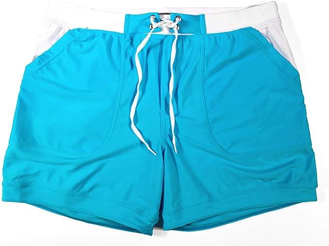 color azul claro Taddle Short largo para hombre para nataci/ón y surf estilo bermuda