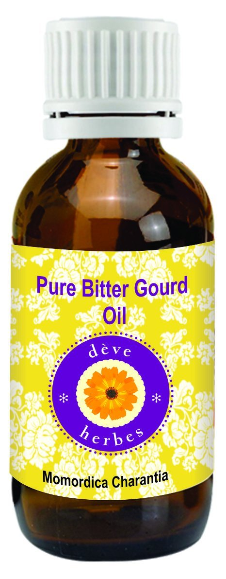 Deve Herbes Pure Bitter Gourd Oil 30Ml (Momordica Charantia) 100% Natural Therapeutic Grade