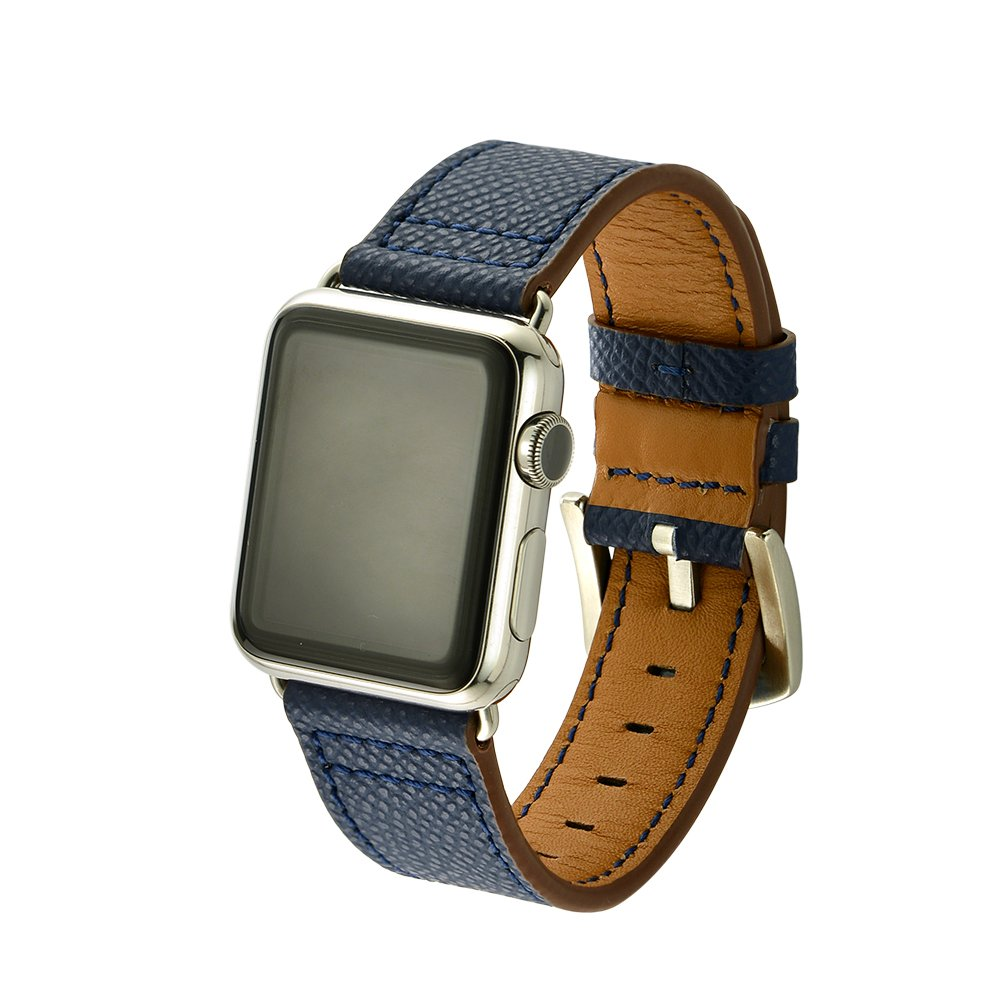 Apple Watch Band 38mm, Genuine Leather 38mm Lightweight Breathable Strap with Stainless Metal Buckle Fit for Men/Women's Apple Watch Series 3, Series 2, Series 1 & Sport & Edition