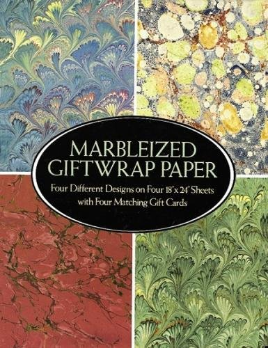 Marbleized Giftwrap Paper: Four Different Designs on Four 18