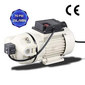 TDRFORCE Water Diaphragm Pump Electric Self Priming Dispensing Pump 115VAC 25L/Min(6.8GPM) 70PSI for Sprayer Irrigation Liquid Transfer (Factory Pressure Setting: 40PSI)