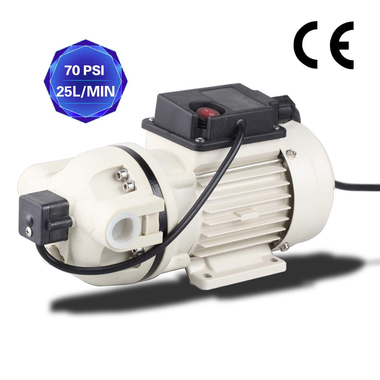 TDRFORCE Water Diaphragm Pressure Pump Electric Self Priming Dispensing Pump 115VAC 25L/Min(6.8GPM) 70PSI for Sprayer Irrigation Liquid Transfer (No Plug)
