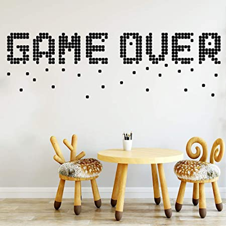 WWYJN Interesting Game Over Wall Sticker Removable DIY Wallpaper ...