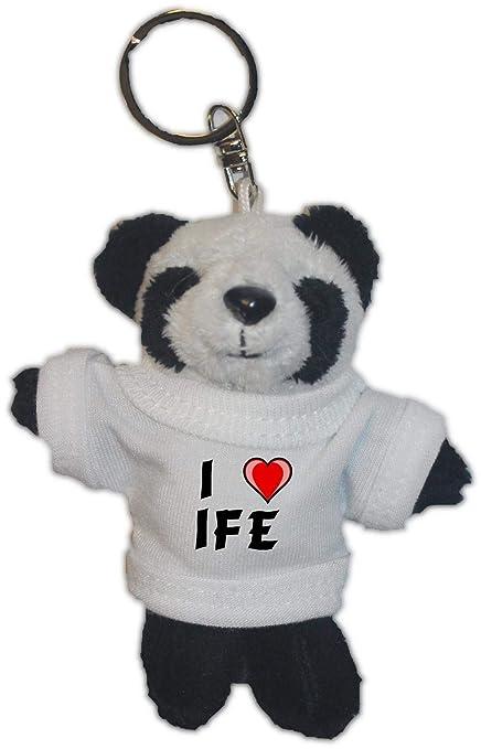 Shopzeus Oso Panda de Peluche (Llavero) con Amo IFE en la ...