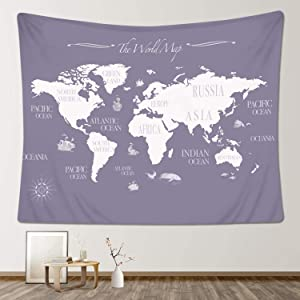 Stacy Fay World Map Tapestry, 59