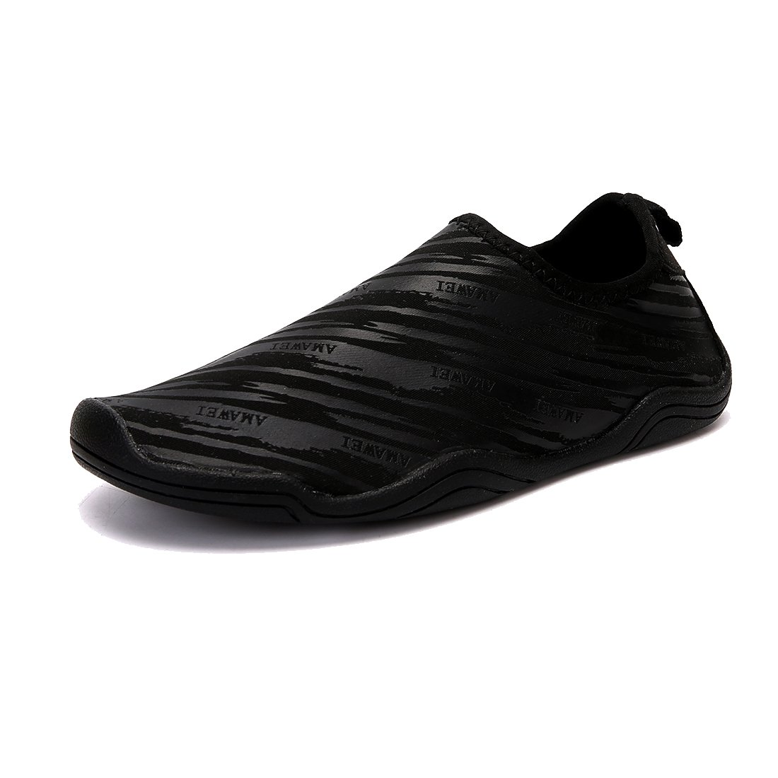 VAMV Water Shoes for Kids Boys Girls Quick Drying Beach Swim Shoe Sneakers Slip On Aqua Sock(Little Kid/Big Kid) (6, Black)