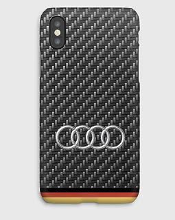 Carbon Audi cover iPhone XS, XS Max, XR, X, 8, 8+, 7, 7+, 6S, 6, 6S+, 6+, 5C, 5, 5S, 5SE, 4S, 4,