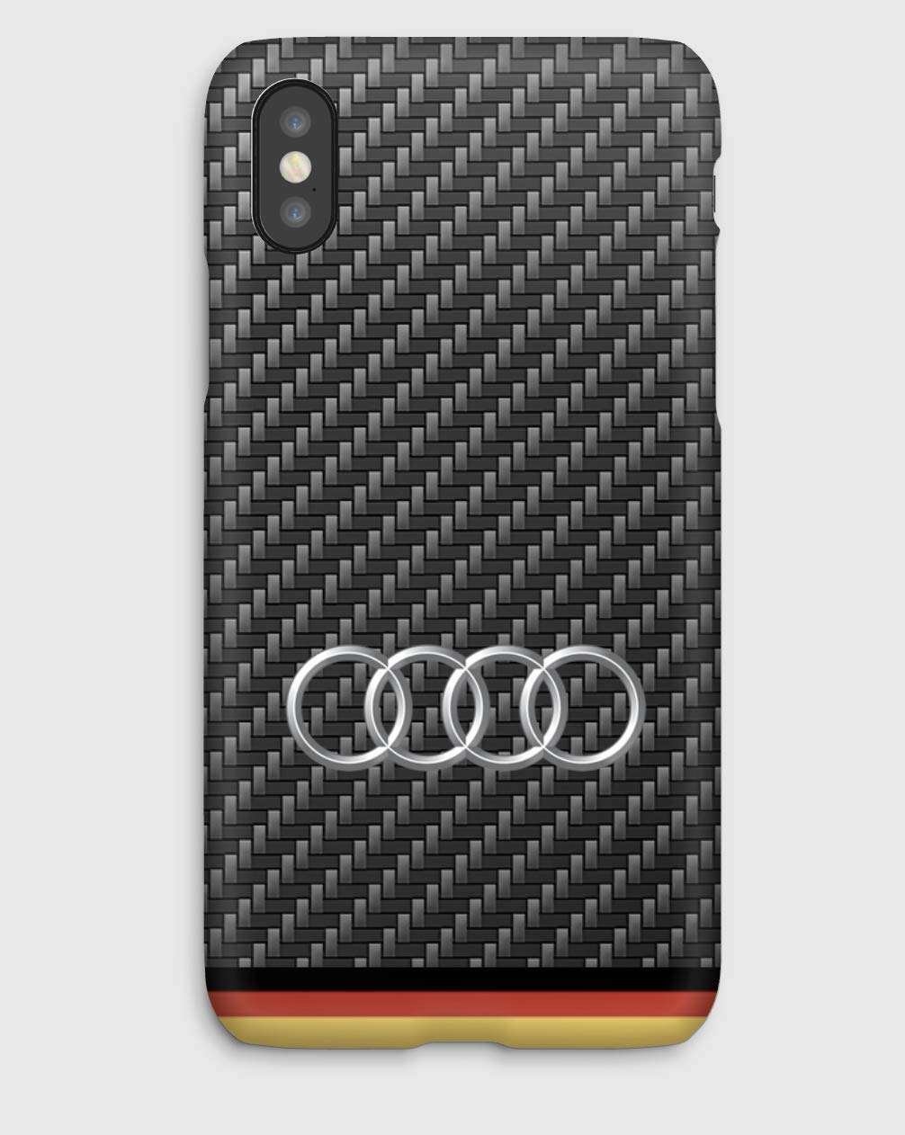 Carbon Audi Funda para el iPhone XS, XS Max, XR, X, 8, 8+, 7, 7+, 6S, 6, 6S+, 6+, 5C, 5, 5S, 5SE, 4S, 4,