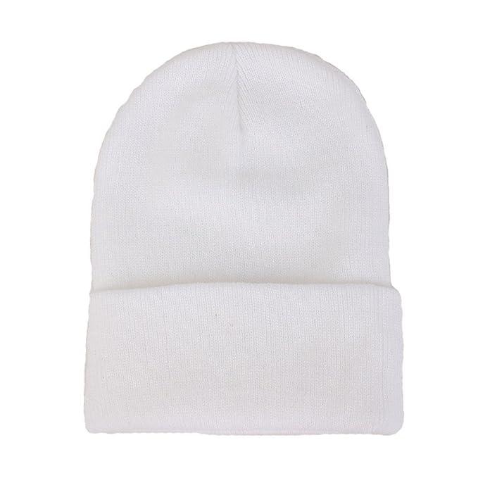 04a5d9d7d Amazon.com: CANCA Unisex Cuff Warm Winter Hat Knit Plain Skull ...