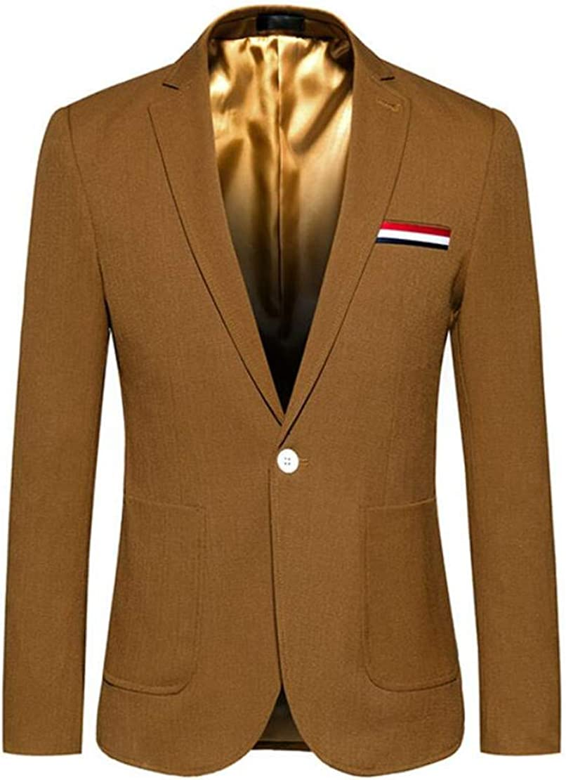 XTX Mens Formal One Button Classic Business Sport Wedding Blazer Jackets