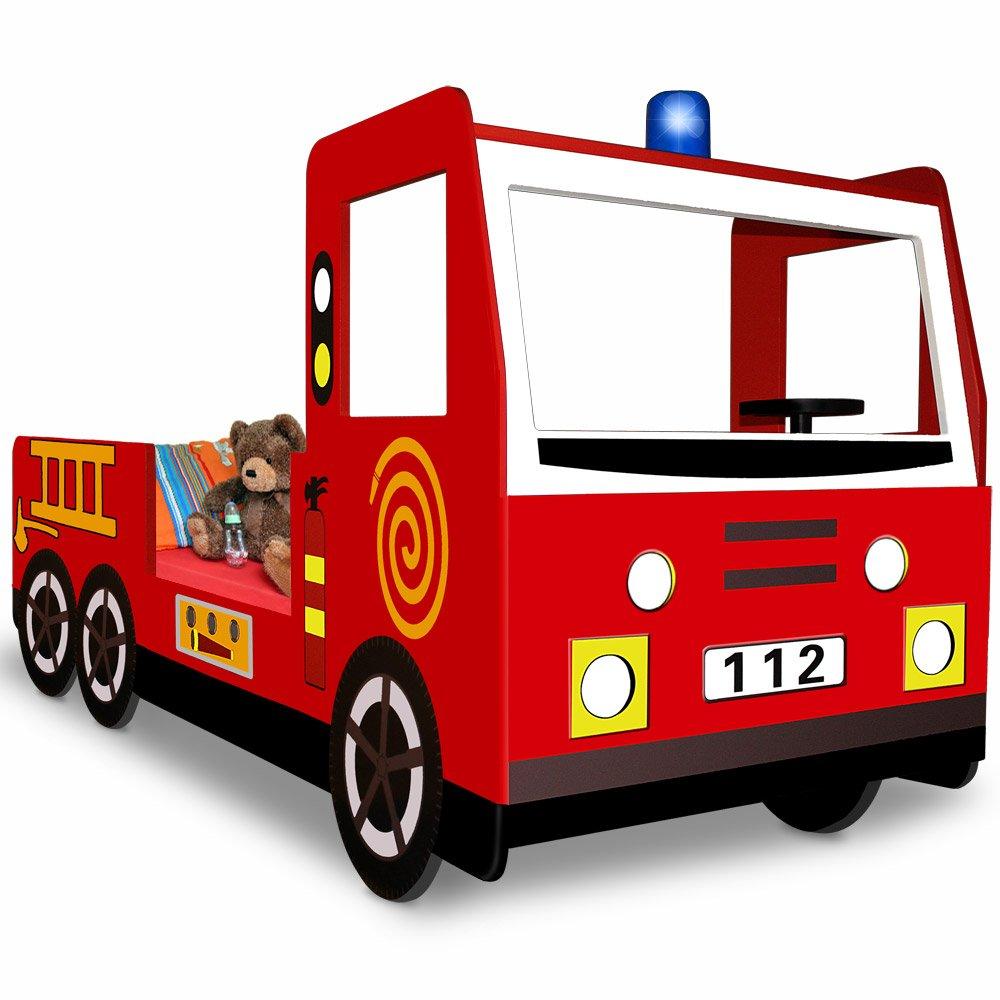 Feuerwehrauto Bett - Deuba Autobett Feuerwehrbett