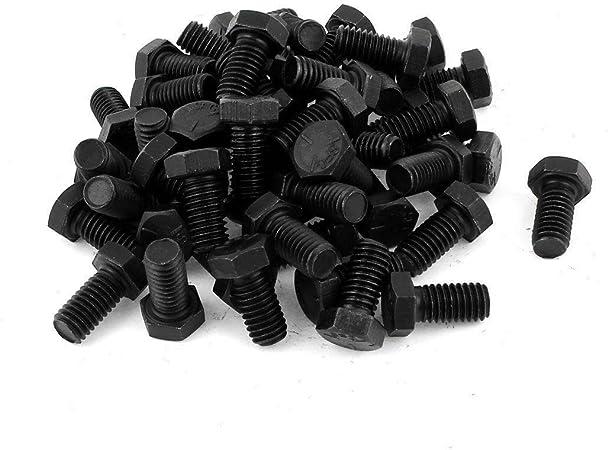 "3//8-16 x 3//4/"" Hex Head Cap Screw Tap Bolt Stainless Steel 18-8 304 Black Qty 100"