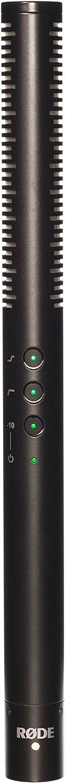Rode NTG4+ - Micrófono de condensador (cañón, cápsula de condensador de bajo ruido, cargador USB, 150 horas de operación), color negro
