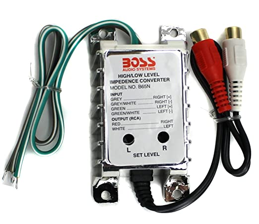 BOSS Audio Systems B65N -High Level to RCA Converter - noise Filter for Car  Audio Systems