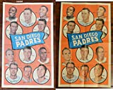 1969 Topps Posters (Baseball) Card# 12 padres Arcia Breeden Brown Davis Gonzalez Kelley of the San Diego Padres ExMt Condition