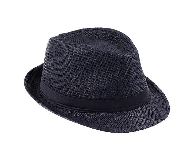f8874cb42ccbf Men Straw Fedora cap Trilby Chapeu Beach sun hat sombrero cowboy Sunhat  Bucket