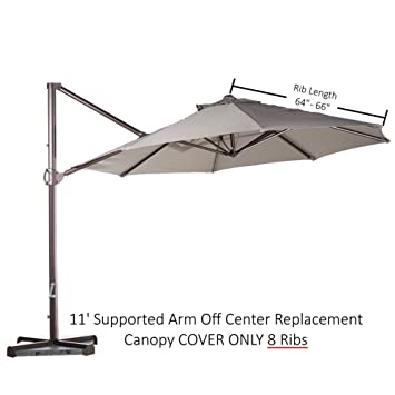 Delicieux Formosa Covers Replacement Umbrella Canopy For 11ft 8 Rib Supported Bar  Cantilever Market Outdoor Patio Shades