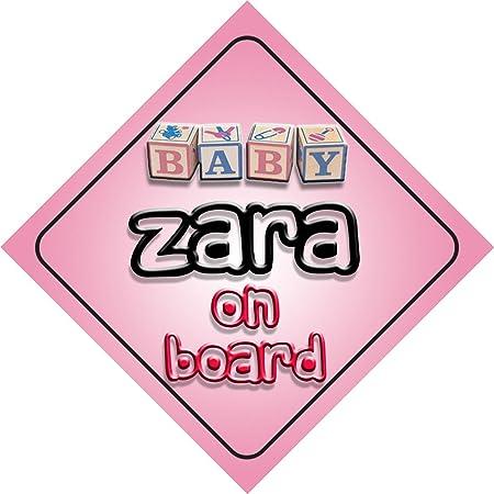 Letrero para coches con la frase en inglés «Baby Girl Zara on ...