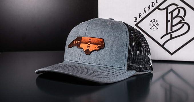 OSFA//Heather Grey//Black Branded Bills /'South Carolina Native Leather Patch Snapback Hat