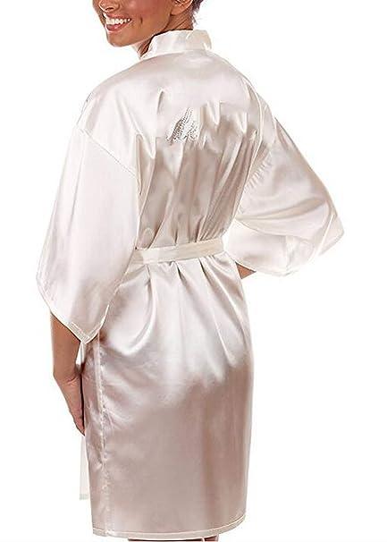 Silk White Bridal Dressing Gownkimono Bathrobes S At Amazon
