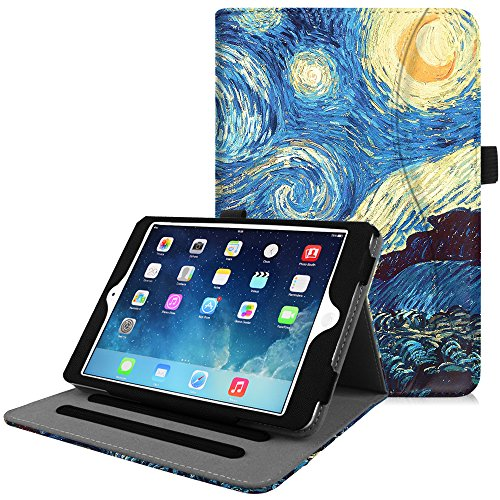 Fintie iPad Mini 4 Case [Corner Protection] - [Multi-Angle Viewing] Folio Smart Stand Protective Cover with Pocket, Supports Auto Wake/Sleep for Apple iPad Mini 4 (2015 Release), Starry Night