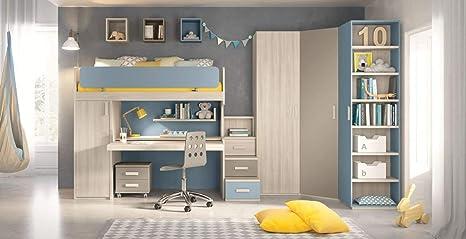 Cameretta Completa 2 Letti.Dafnedesign Com Cameretta Completa Per Ragazzo Colori Blu Grigio