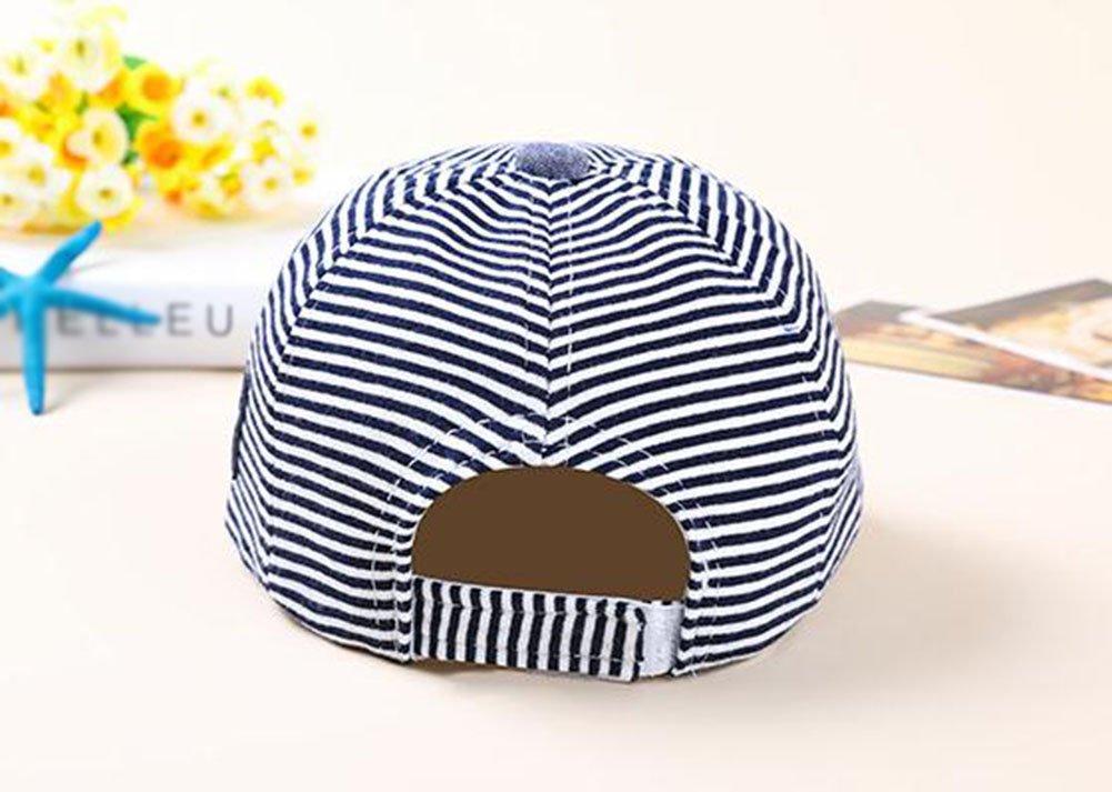 cappelli ragazze dei neonati Beret Sun cappelli cappello snapback Yo cute casual a righe morbido Eaves Baby berretto da baseball in cotone per bambini vi