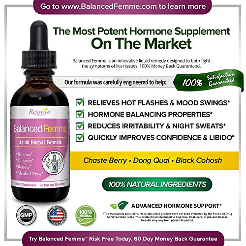 Balanced Femme - Herbal PMS and Menopause Support   All-Natural Liquid for 2X Absorption   Vitex, Dong Quai, Maca Root & More! by Balanced Femme (Image #2)