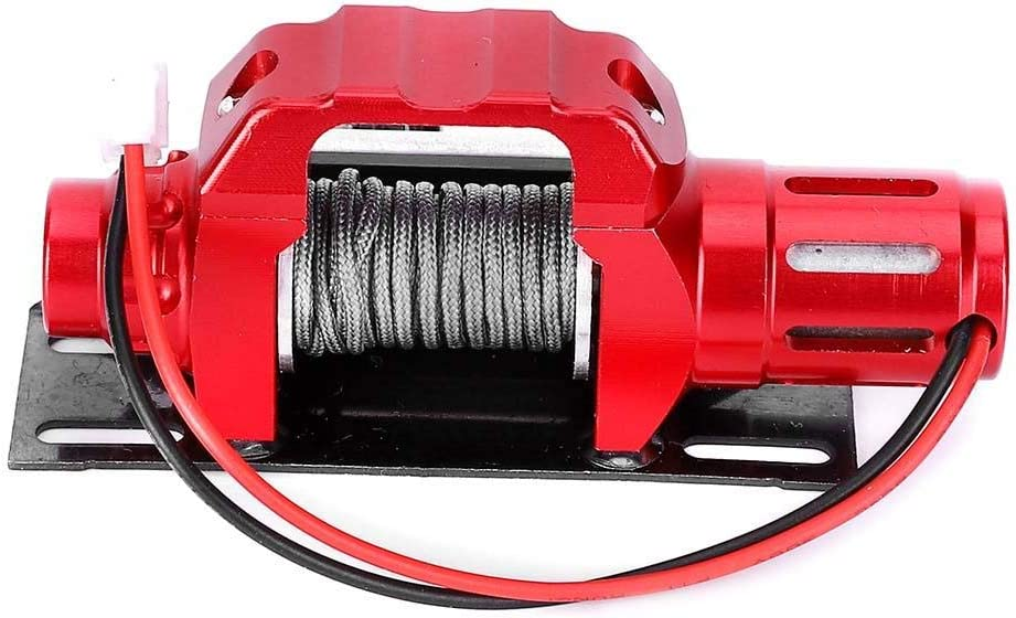 Vbest life RC RC Electric Winch Equipment Simulation Aluminum Alloy Electric Winch Upgrade Part for TRX4 1//10 RC Car