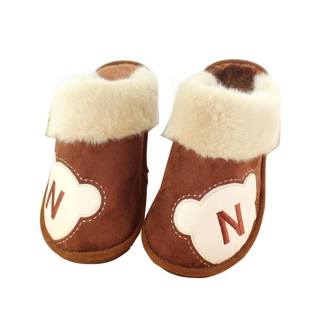 CNDragon Mens Winter Cotton Slippers Indoor Household Nonslip Large Size Warm Animals Heelless Mules