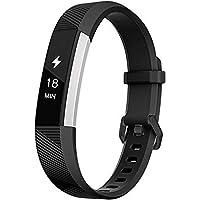 Fatcatband Kompatybilna z paskami do zegarka Fitbit Alta HR i Alta, klasyczna, miękka, silikonowa, sportowa, regulowana…