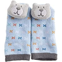 Playette Novelty Rattle Toes Socks for 3-12 Months Boys, Blue,