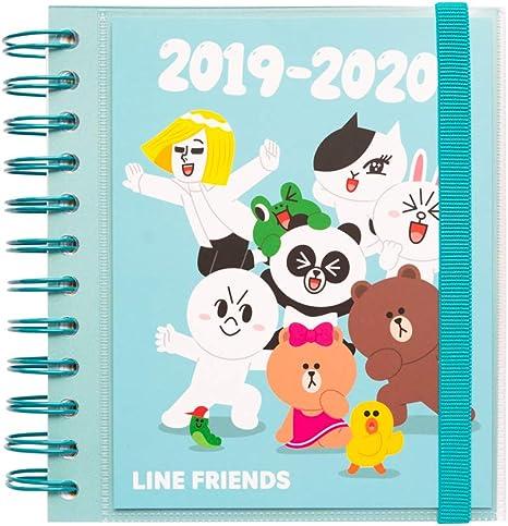 Amazon.com: Agenda escolar 2019-2020 de Line Friends ...